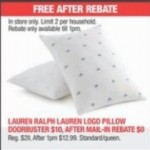 Lauren Ralph Lauren Logo Pillow for FREE (After Rebate) Deals