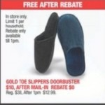 Gold Tote Slippers for FREE (After Rebate) Deals