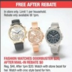 macys deals on Fashion Watches for FREE (After Rebate)