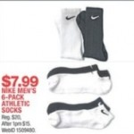 macys deals on 6-Pack Nike Mens Athletic Socks