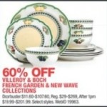 macys deals on Get 60% off Villeroy & Boch French Garden & New Wave Collections