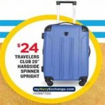 Deals on Travelers Club 20-in Hardside Spinner Upright