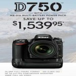 nikon deals on Save Up to $1539.95 on Nikon D750 MB-D16 24.3MP HD Video Camera