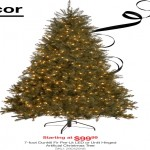 overstock deals on 7-foot Dunhill Fir Pre-Lite LED or Unit Hinged Artificial Christmas Tree