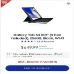 samsung.com deals on Samsung 10.5-inch Galaxy Tab S4 (S Pen included) 256GB, Black, Wi-Fi