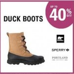 Up to 40% off Duck Boots Deals