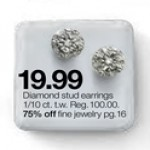 1/10-cttw. Diamond Stud Earrings Deals