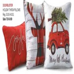 Holiday Throw Pillows from $7.50 Deals
