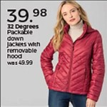 steinmart deals on 32 Degrees Package Down jackets with Removable Hood