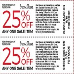 Stein Mart Coupon: Extra 25% Off Any One Sale Item Deals