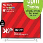 target deals on TCL 55-inch 4K Ultra HD Roku TV