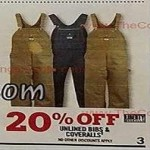 Unlined Bibs & Coveralls Deals