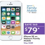 walmart deals on Apple iPhone SE on Walmart Family Mobile