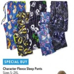 walmart deals on Character Fleece Sleep Pants