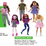 walmart deals on Fashion Doll or Figure Monster High, Barbie or DC Super Hero Girls