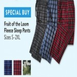 walmart deals on Fruit of the Loom Fleece Sleep Pants