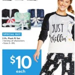 walmart deals on 2‑Pc. Plush PJ Set
