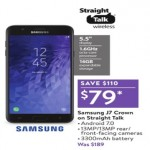walmart deals on Samsung J7 Crown on Straight Talk