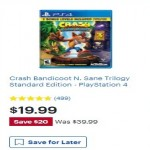 BestBuy.com deals on Crash Bandicoot N. Sane Trilogy Standard Edition PS4