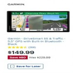 Deals on Garmin DriveSmart 55 & Traffic 5.5-in GPS w/Built-In Bluetooth