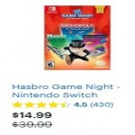 BestBuy.com deals on Hasbro Game Night Nintendo Switch