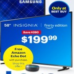 BestBuy.com deals on Insignia 58-in 2160p LED Smart 4K UHD TV + Free Amazon Echo Dot