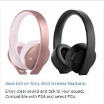 BestBuy.com deals on $30 Off Sony Gold Wireless Headsets