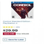 BestBuy.com deals on Control Standard Edition PlayStation 4