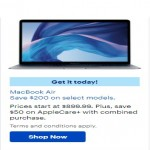BestBuy.com deals on Save $200 on Select Models MacBook Air
