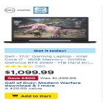 BestBuy.com deals on Dell 17.3-inch Gaming Laptop w/Intel Core i7, 16GB RAM