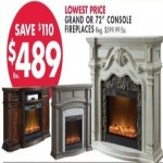 BigLots.com deals on White Grand Or 72-in. Cherry Console Fireplaces