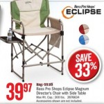 Deals on Bass Pro Shops Eclipse Magnum Directors Chair w/Side Table