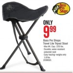 Cabelas.com deals on Bass Pro Shops Travel Lite Tripod Stool