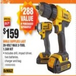 Deals on DEWALT 20-Volt MAX Lithium-Ion Cordless Drill/Driver and Impact Combo Kit (2-Tool)