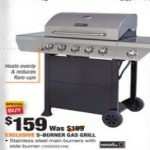 HomeDepot deals on Nexgrill 5-Burner Propane Gas Grill in Stainless Steel