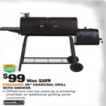 Deals on Nexgrill 29 in. Barrel Charcoal Grill/Smoker