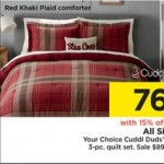Kohls deals on Cuddl Duds 4-pc. Comforter Set + $15 Kohls Cash