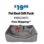 SamsClub.com deals on La Ti Paw Pet Bed w/Plush Bone Toy & Throw Blanket Gift Set
