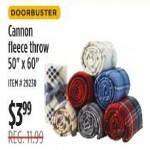 Cannon 50 x 60-in. Fleece Throw Deals