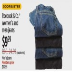 Sears deals on Roebuck & Co. Womens And Mens Jeans