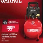acehardware deals on Craftsman 6-Gal. Oil-Free Pancake Air Compressor