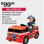 Kid Motorz Fire Engine 6V Battery Operated Ride On Deals