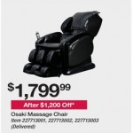 bjs deals on Osaki Monarch Massage Chair Brown