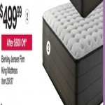 bjs deals on Berkley Jensen 15-in. King Size Firm Mattress