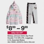 Deals on Betsey Johnson Girls Zip-Front Hoodie Or 2-pk. Leggings