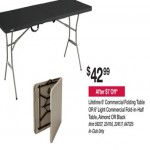 bjs deals on Lifetime 6ft Commercial Folding or Fold-in-Half Table