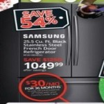 conns deals on Samsung 26 Cu.Ft. French Door Refrigerator RF261BEAESG