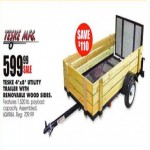 Deals on Teske Mfg. 4-ft x 8-ft Utility Trailer with Wood Sides