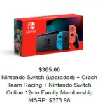 googleshopping deals on Nintendo Switch + Crash Team Racing & 12-Month Online Membership