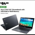 Deals on Acer C740 11.6-inch Laptop With 4GB RAM & 16GB ROM Refurb